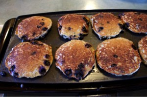 Blue Berry Bread Pudding Pancakes