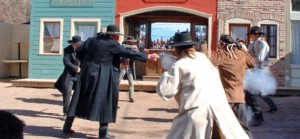 Staged gunfight during Tombtone October Events