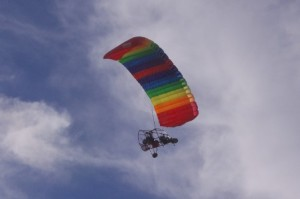 paraplane flying overhead picture