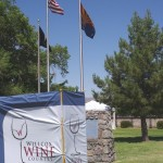 Flag and Willcox Wine Country Festival Sign Picture