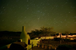 Stargazing on back patio picture