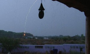 Lightning strike picture at our Southeastern Arizona B and B