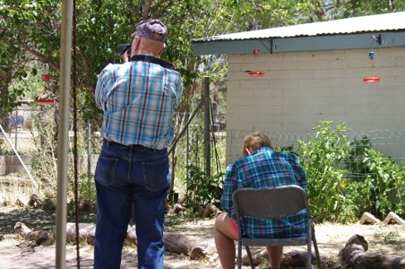 Birders at Paton Hummingbird Haven