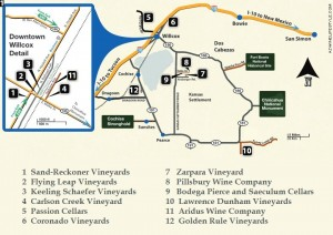 Willcox Winery Tour Map