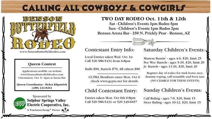 Southeastern Arizona October events rodeo picture
