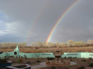 Double Rainbow from the patio at Down By The River B and B
