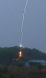 Lightning close up